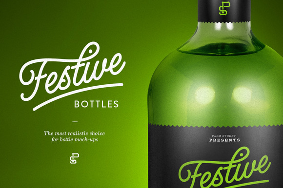 Tequila Bottle Mock-Up
