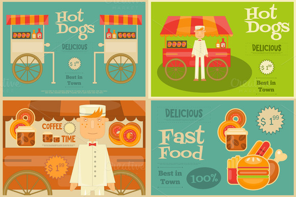 Fast Food Mini Posters