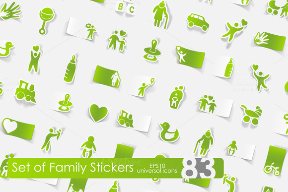 83 Family Stickers