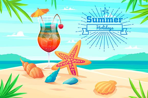 Summer Holidays Illustration Vector