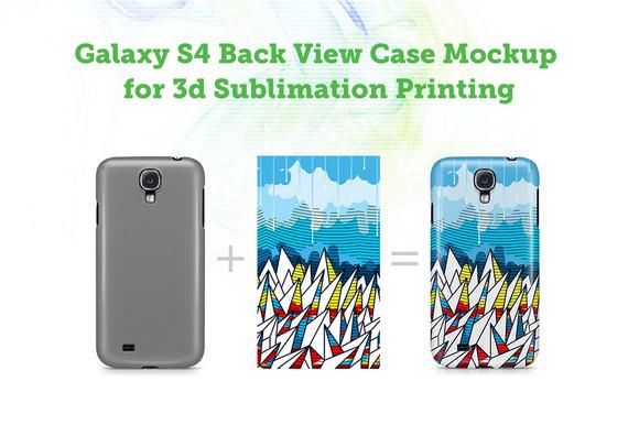 Galaxy S4 3D Sublimation Case Mockup