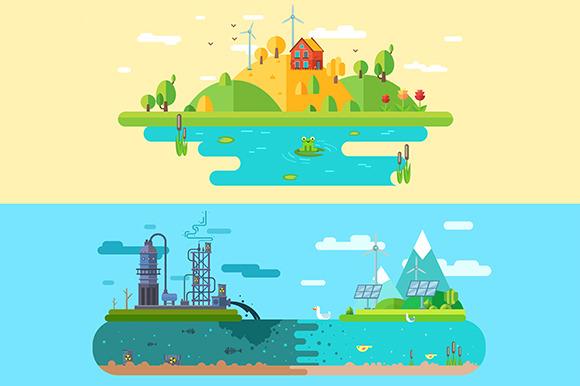 Ecology Design Concept Vector