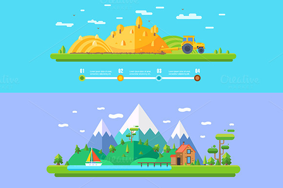 Vector Ecology Illustration Concept