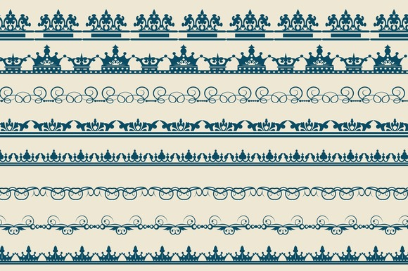 Borders Vintage Vector Set
