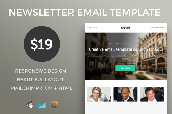 Modern E-mail Newsletter Template