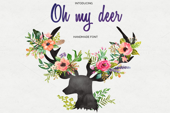 Oh My Deer Handmade Font