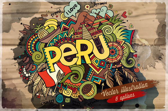 PERU Vector Illustrations