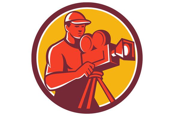 Cameraman Vintage Film Movie Camera