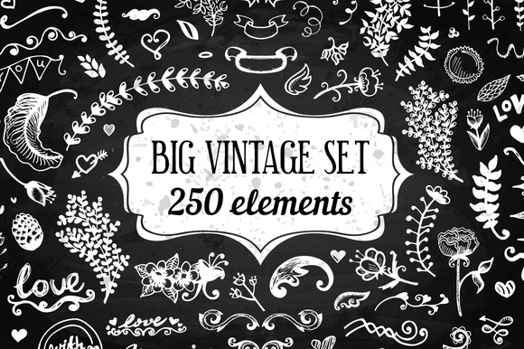 250 Elements Big Vintage Set