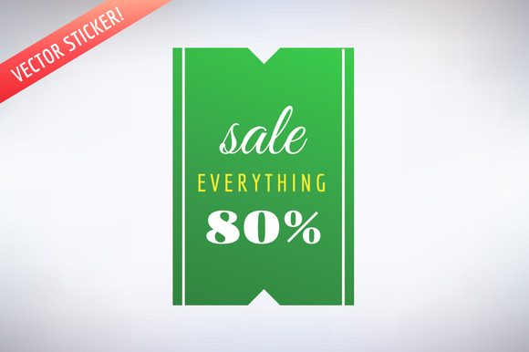 Sale Vector Sticker Icon Shopping