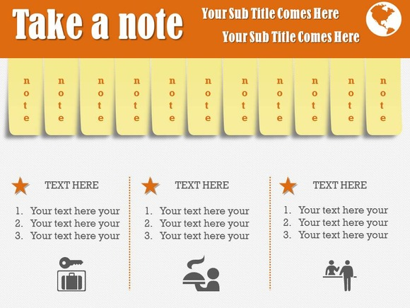 Take A Note PowerPoint Template