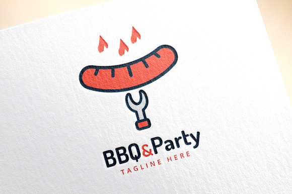 Barbecue And Grill Vector Logo