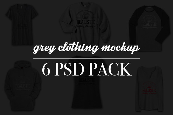 Heather Grey Realistic Tshirt Mockup