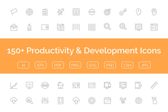 150 Productivity Development Icon