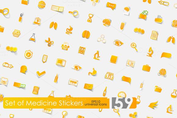 159 Medicine Stickers