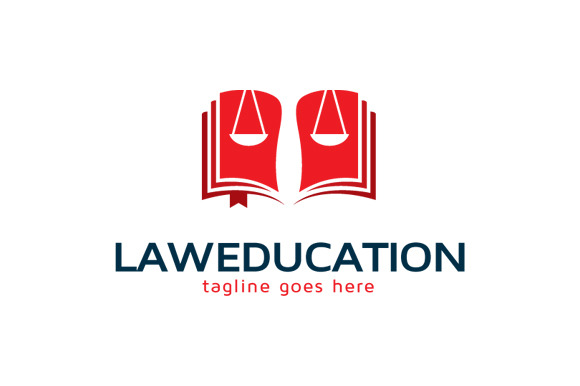 Law Education Logo Template Design