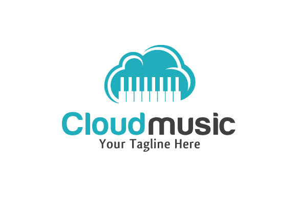 Cloud Music Logo Template Design