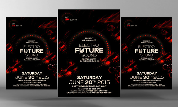 Electro Future Sound Party Flyer