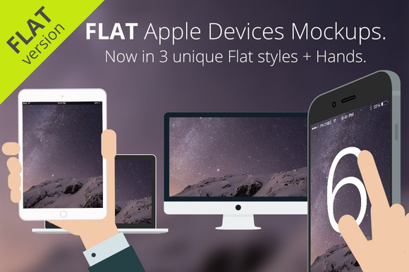Flat Apple Responsive Devices