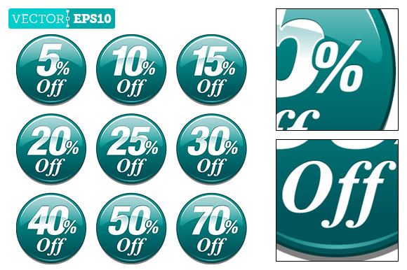 Teal Sale Discount Badge Dot Burst