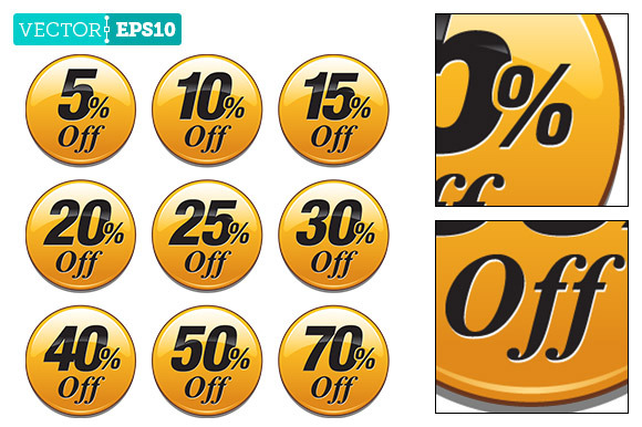 Yellow Sale Discount Badge Dot