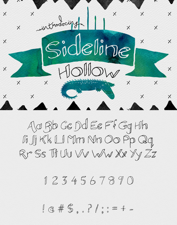 Sideline Typeface Hollow