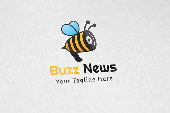 Buzz News Logo Template