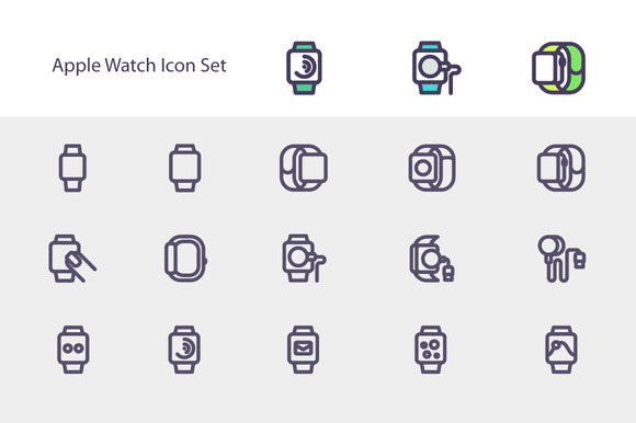 Simple Apple Watch Icon Set