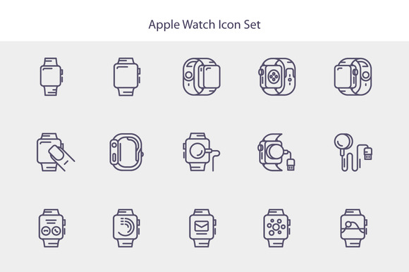 Line Apple Watch Icon Set