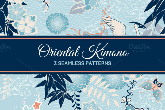 Kimono Patterns With Cranes