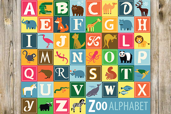 Animal Alphabet Zoo Alphabet
