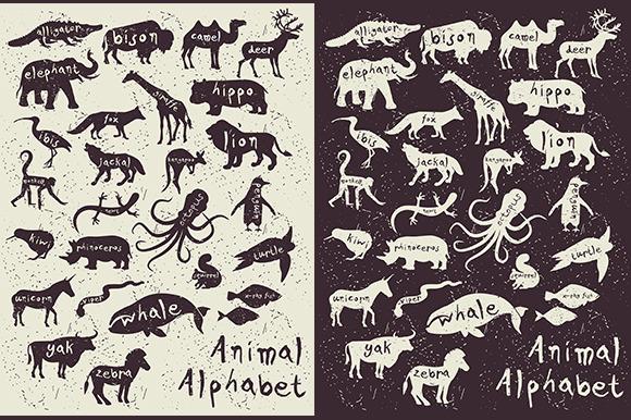 Animal Alphabet Zoo Alphabet