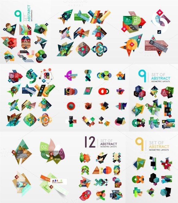 Set Of Modern Abstract Infographics