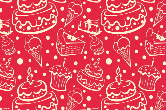 Cakes And Dessert Background