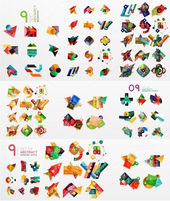 Trendy Paper Infographics