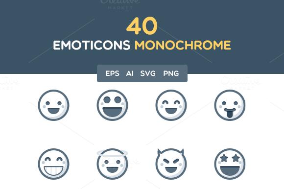Emoticons Monochrome