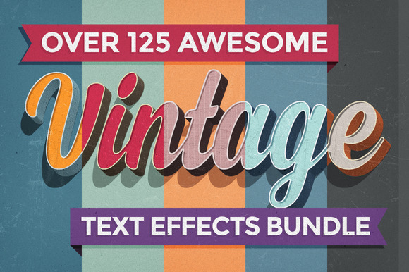 Vintage Text Effects Bundle