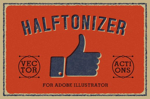 Halftonizer Vector Texture Actions