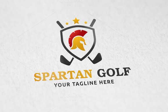 Spartan Golf Logo Template