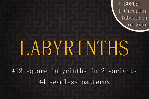 Vector Labyrinths Set