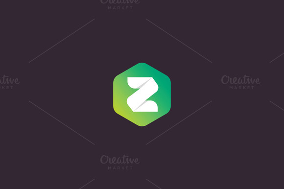 Abstract Letter Z Hexagon Logo
