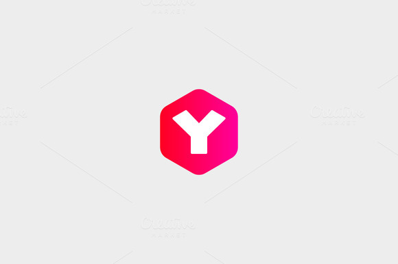 Abstract Letter Y Hexagon Logo