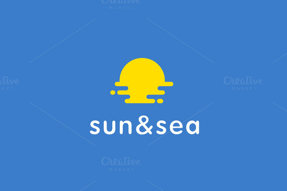 Sun Sea Travel Sunrise Logo