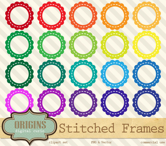 Stitched Frames Clipart