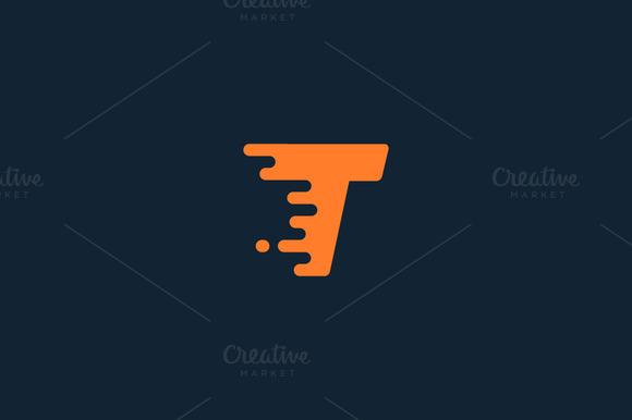 Dynamic Letter T Logo