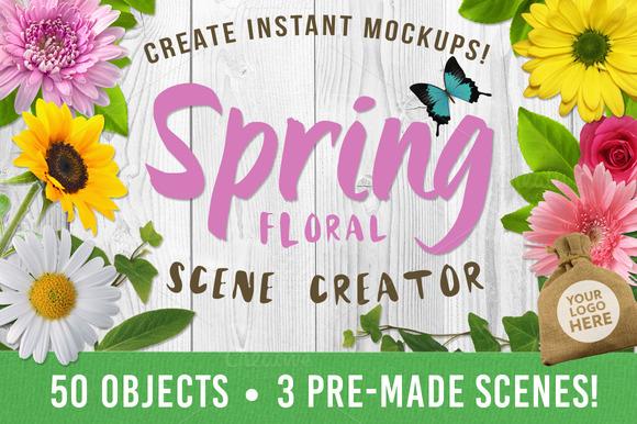 Spring Floral Scene Creator