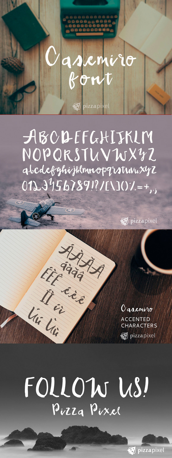 Casemiro Handmade Font