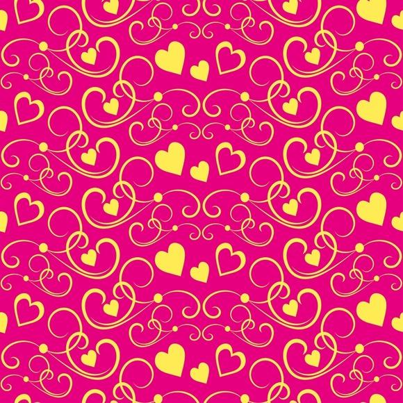 Love Hearts Modern Wallpaper