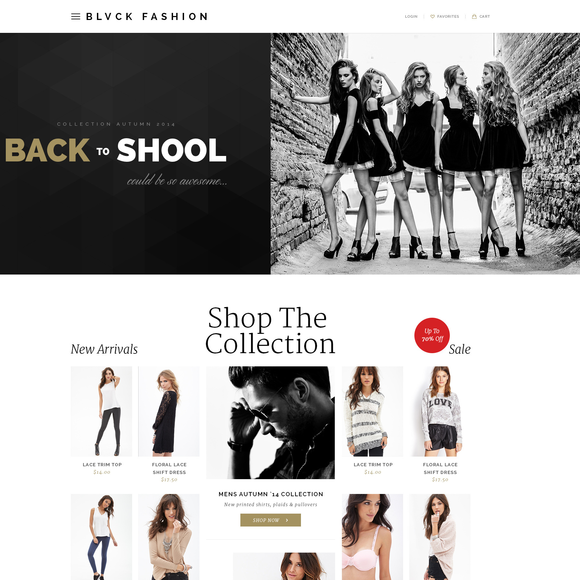 BLVCK Fashion Ecommerce Template