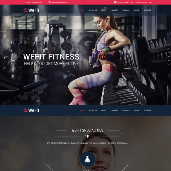 WeFit Health Fitness Template